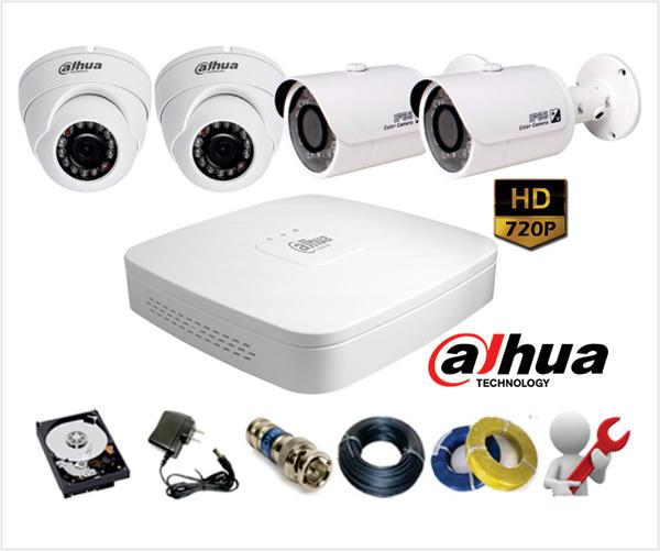Lắp đặt Camera tại Hà Nội, Camera quan sát HD Dahua 1.0 độ nét 720P với chỉ với giá 4.000.000