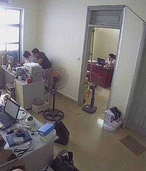 lắp đặt camera không dây C15 tại văn phòng